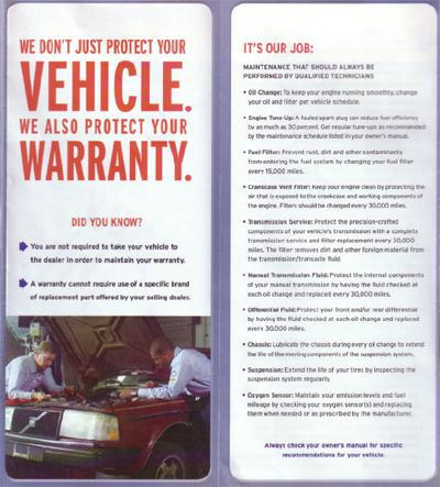 Click here to view the full version of our warranty!